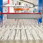 Temperaturmessung in der Glasindustrie - Abfüllanlage