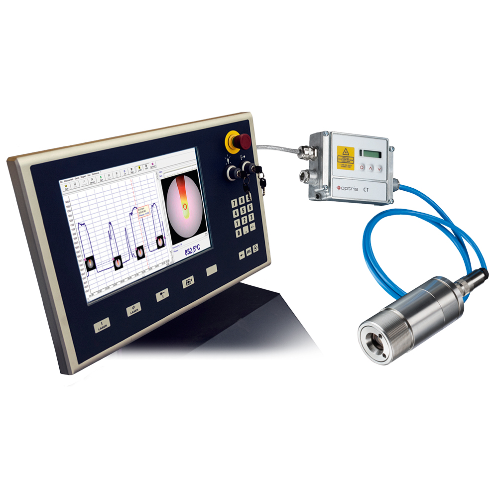 Video-Pyrometer optris CTvideo 3M mit Industrie PC